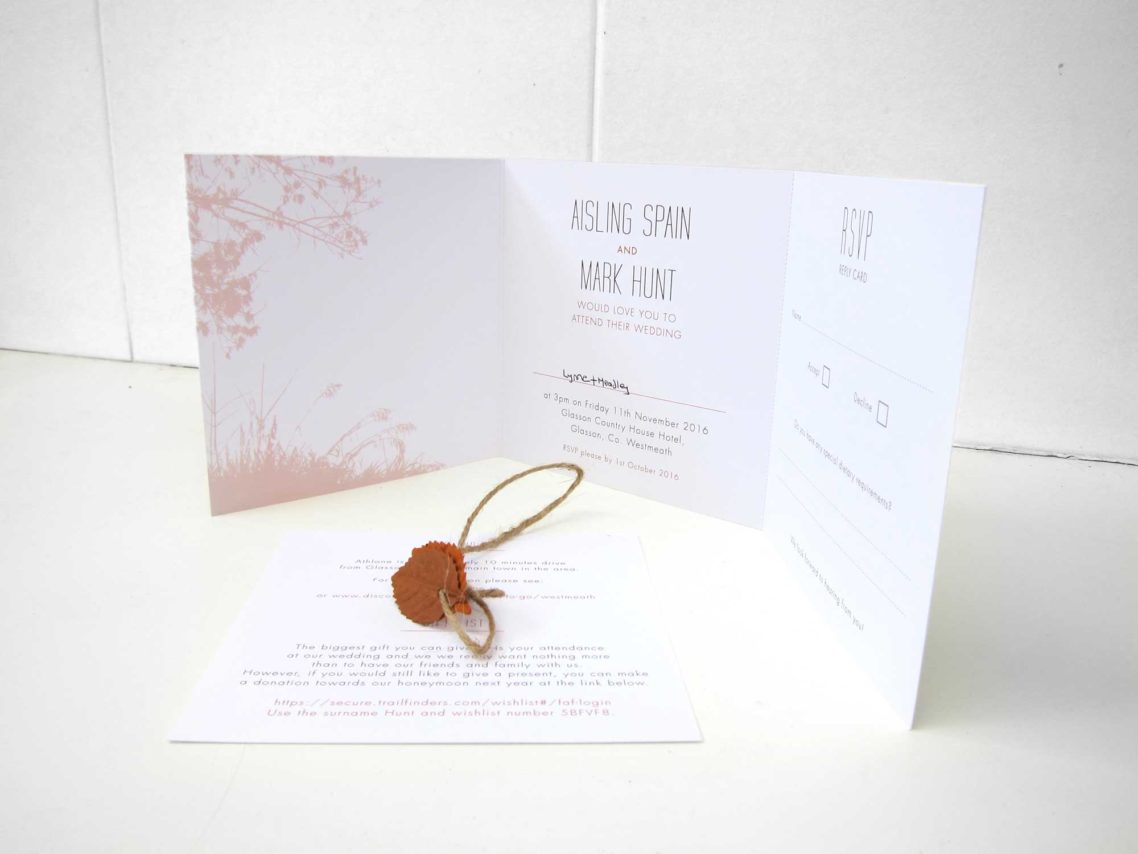 Autumn Themed Wedding Invites - lbdesign